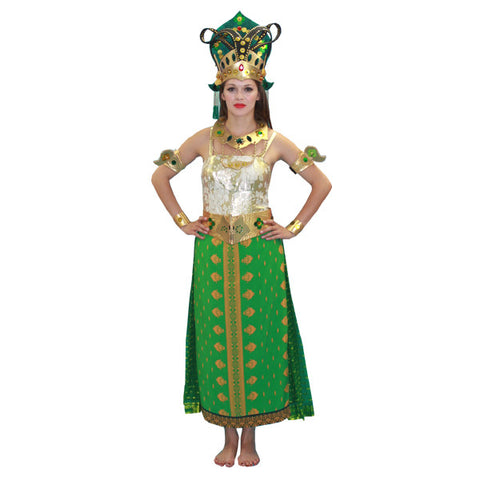 Bali Princess Green and Gold in Theatrical Costumes from BuffaloBreath at Buffalo Breath Costumes