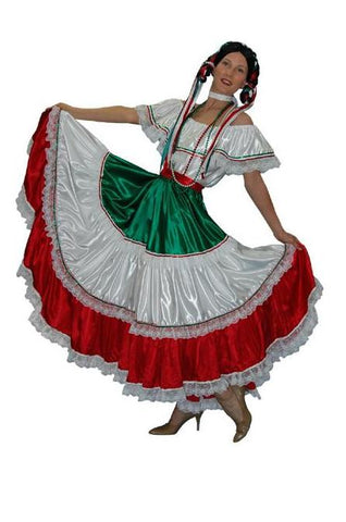 Mexican Woman (red white green)