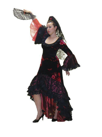 Flamenco Floral in Theatrical Costumes from BuffaloBreath at Buffalo Breath Costumes