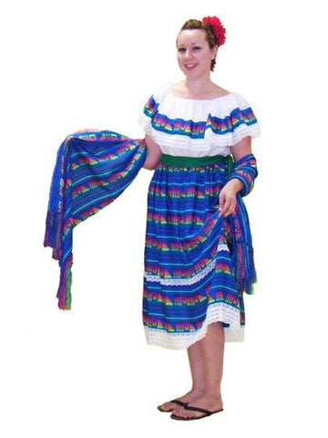 Mexican Peasant Woman costume rental at Buffalo Breath Costumes in San Diego