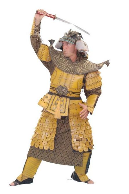 Deluxe Gold Samurai in Theatrical Costumes from BuffaloBreath at Buffalo Breath Costumes