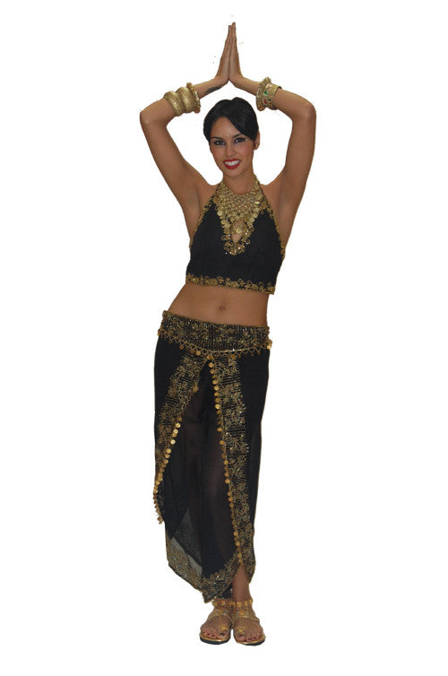 Bali Dancer Black and Gold in Theatrical Costumes from BuffaloBreath at Buffalo Breath Costumes