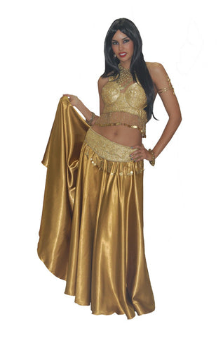 Deluxe Gold Belly Dancer in Theatrical Costumes from BuffaloBreath at Buffalo Breath Costumes