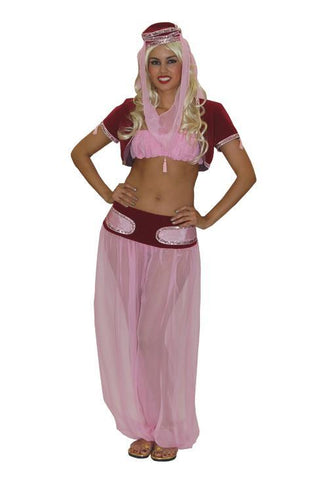 Pink Genie deluxe costume rental or purchase at Buffalo Breath Costumes in San Diego