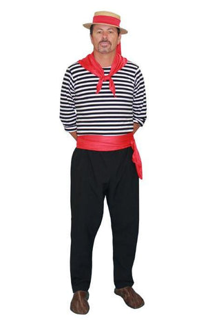 Italian Gondolier costume rental or purchase at Buffalo Breath Costumes