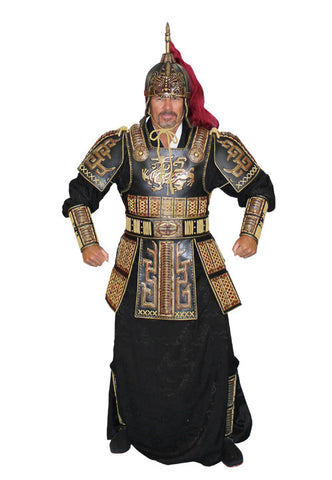Deluxe Black Shogun armor costume at Buffalo Breath Costumes in San Diego