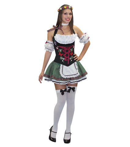 German Beer Girl Mini Dress in Theatrical Costumes from BuffaloBreath at Buffalo Breath Costumes