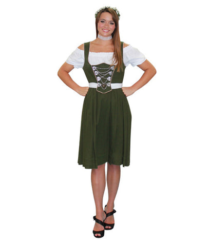 German Woman Green Dress in Theatrical Costumes from BuffaloBreath at Buffalo Breath Costumes