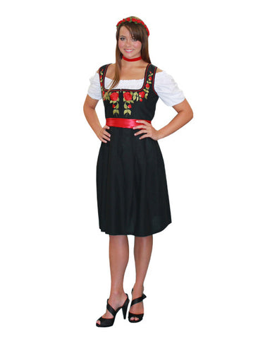 German Woman Black Dress in Theatrical Costumes from BuffaloBreath at Buffalo Breath Costumes