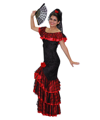 Flamenco Black Velvet in Theatrical Costumes from BuffaloBreath at Buffalo Breath Costumes