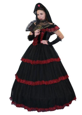 Senorita (deluxe burg/blk) in Theatrical Costumes from BuffaloBreath at Buffalo Breath Costumes