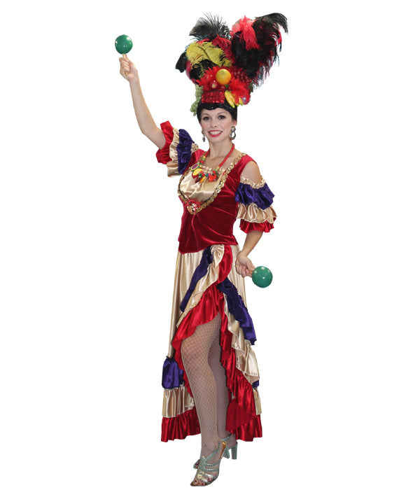 Deluxe Velvet Carmen Miranda in Theatrical Costumes from Buffalo Breath Costumes in San Diego