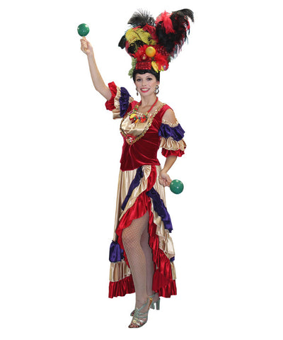 Deluxe Velvet Carmen Miranda in Theatrical Costumes from BuffaloBreath at Buffalo Breath Costumes