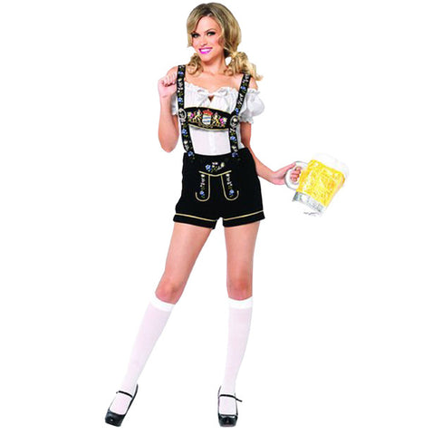 Edelweiss Lederhosen Female in Theatrical Costumes from BuffaloBreath at Buffalo Breath Costumes