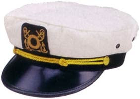 Yacht Cap-White in Accessories from JACOBSON at Buffalo Breath Costumes in San Diego