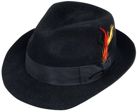 Wool Fedora Black in Accessories from JACOBSON at Buffalo Breath Costumes