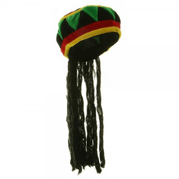 Velvet Rasta Hat in Accessories from JACOBSON at Buffalo Breath Costumes 598aa1efacad
