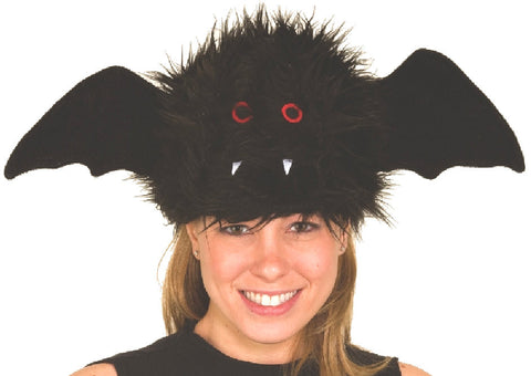 Furry Bat Hat in Accessories from JACOBSON at Buffalo Breath Costumes