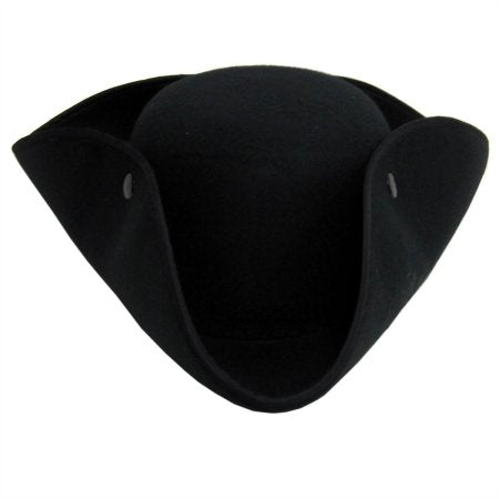 Black Tricorn Hat by Jacobson Hats at Buffalo Breath Costumes in San Diego