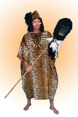 Jungle Leopard Print Chief in Theatrical Costumes from BuffaloBreath at Buffalo Breath Costumes