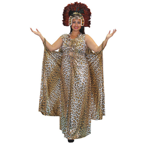 Jungle Queen Leopard Dress in Theatrical Costumes from BuffaloBreath at Buffalo Breath Costumes