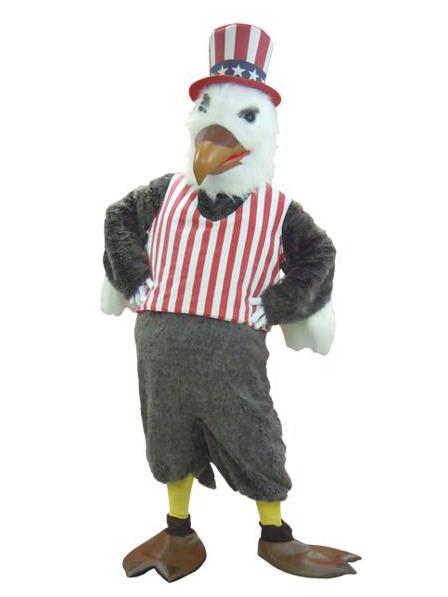 American Eagle mascot costume rental at Buffalo Breath Costumes in San Diego
