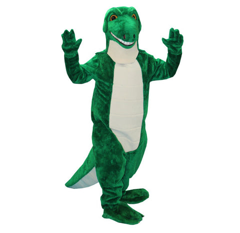 Dinosaur Green and White in Theatrical Costumes from BuffaloBreath at Buffalo Breath Costumes