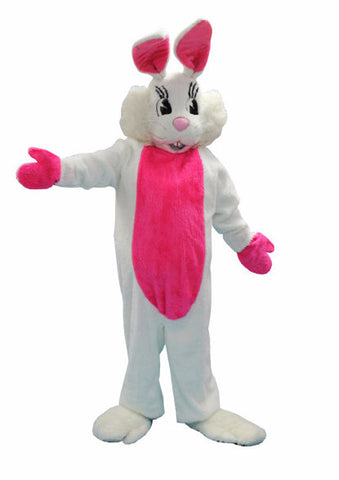 Flopsy Bunny white rabbit animal mascot costume rental or purchase at Buffalo Breath Costumes