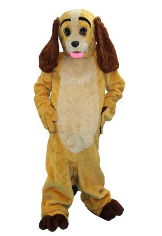 Lady The Cocker Spanial dog mascot costume rental or purchase at Buffalo Breath Costumes in San Diego