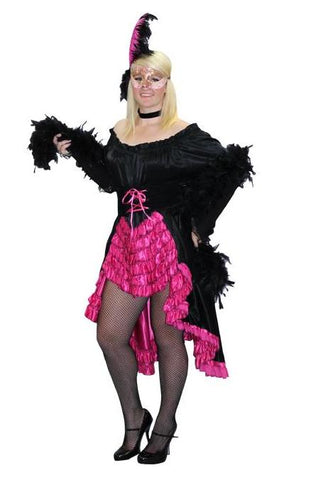 Parisienne Showgirl masquerade style costume rental or purchase at Buffalo Breath Costumes