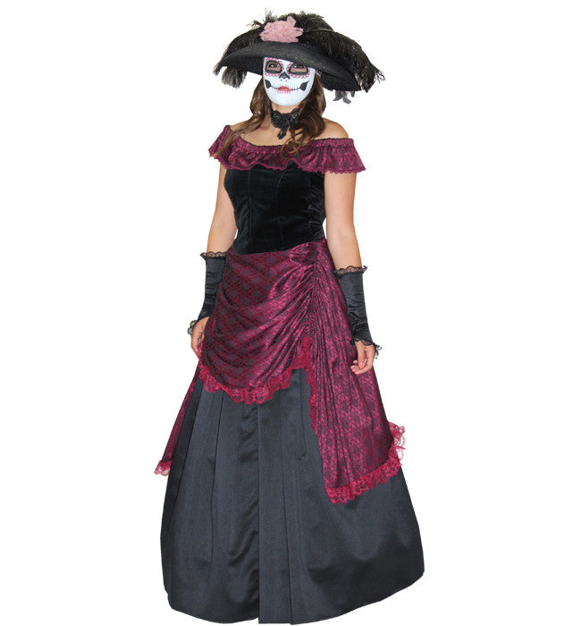 Day of the Dead Victorian in Theatrical Costumes from BuffaloBreath at Buffalo Breath Costumes
