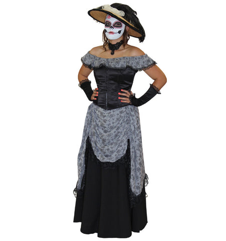 Day of the Dead Gibson Girl in Theatrical Costumes from BuffaloBreath at Buffalo Breath Costumes