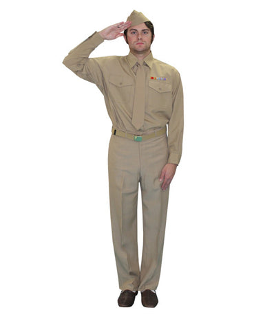 Enlisted World War II Military Man deluxe costume rental or purchase at Buffalo Breath Costumes