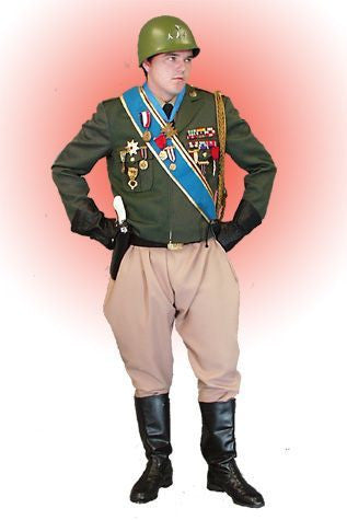 General Patton deluxe military costume rental or purchase at Buffalo Breath Costumes in San Diego