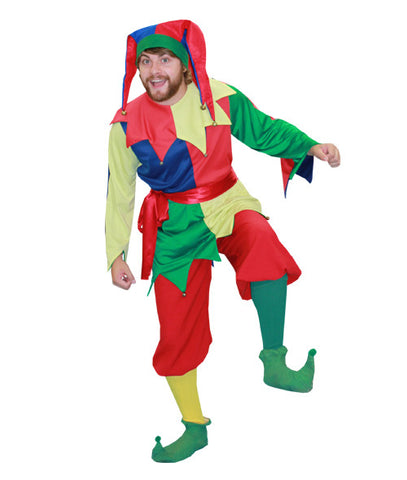 Multicolored Jester in Theatrical Costumes from BuffaloBreath at Buffalo Breath Costumes