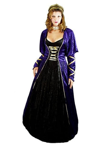 Duchess Purple with Black in Theatrical Costumes from BuffaloBreath at Buffalo Breath Costumes