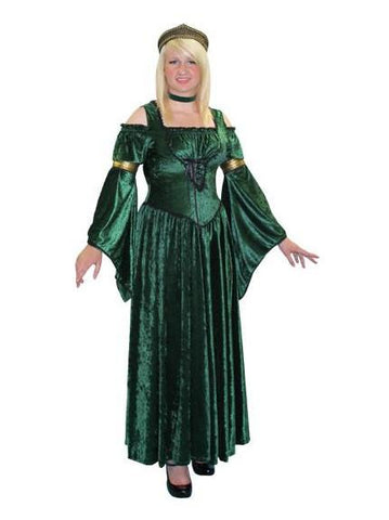 Lady Fiona green dress medieval/renaissance costume rental or purchase at Buffalo Breath Costumes in San Diego