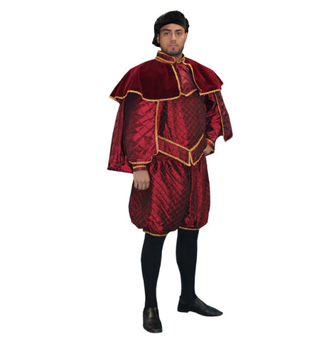 Burgundy Duke mens renaissance faire costume rental from Buffalo Breath Costumes