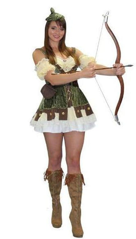 Female Sexy Robin Hood medieval / renaissance deluxe costume rental or purchase at Buffalo Breath Costumes