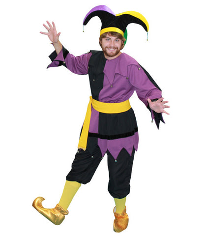 Purple and Black Jester in Theatrical Costumes from BuffaloBreath at Buffalo Breath Costumes