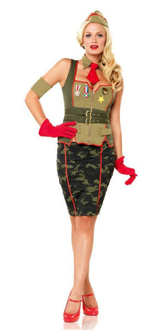 Military Pin Up costume by Leg Avenue at Buffalo Breath Costumes