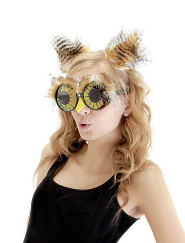 Owl Kit with Glasses and Furry Ear Tufts by Elope at Buffalo Breath Costumes