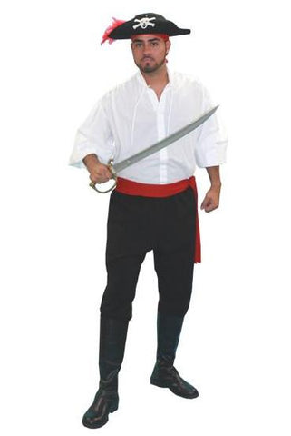 Pirate (Basic/White 2) in Theatrical Costumes from BuffaloBreath at Buffalo Breath Costumes  sc 1 st  Buffalo Breath Costumes : basic pirate costume  - Germanpascual.Com