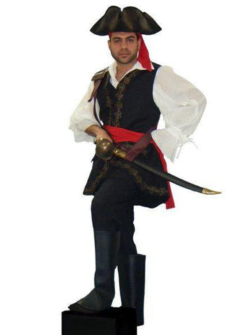 Deluxe Black Vested Pirate in Theatrical Costumes from BuffaloBreath at Buffalo Breath Costumes