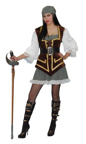 Lady Morgan female pirate costume rental or purchase at Buffalo Breath Costumes