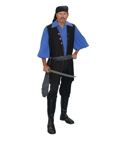 Pirate Vested (black) in Theatrical Costumes from BuffaloBreath at Buffalo Breath Costumes