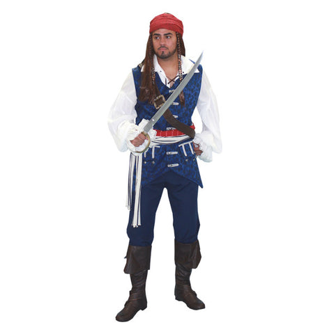 Captain Jack- Blue in Theatrical Costumes from BuffaloBreath at Buffalo Breath Costumes