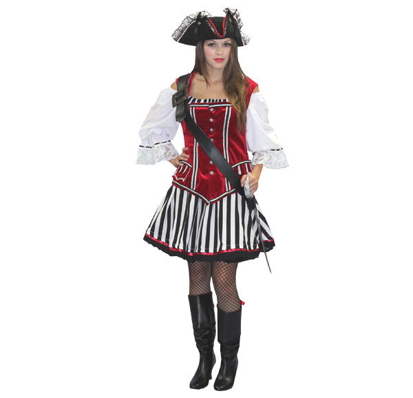 Female Pirate Captain Hook costume rental at Buffalo Breath Costumes