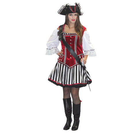 Female Pirate Captain Hook costume rental or purchase at Buffalo Breath Costumes