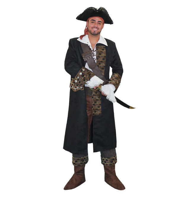 Deluxe Pirate Black in Theatrical Costumes from BuffaloBreath at Buffalo Breath Costumes